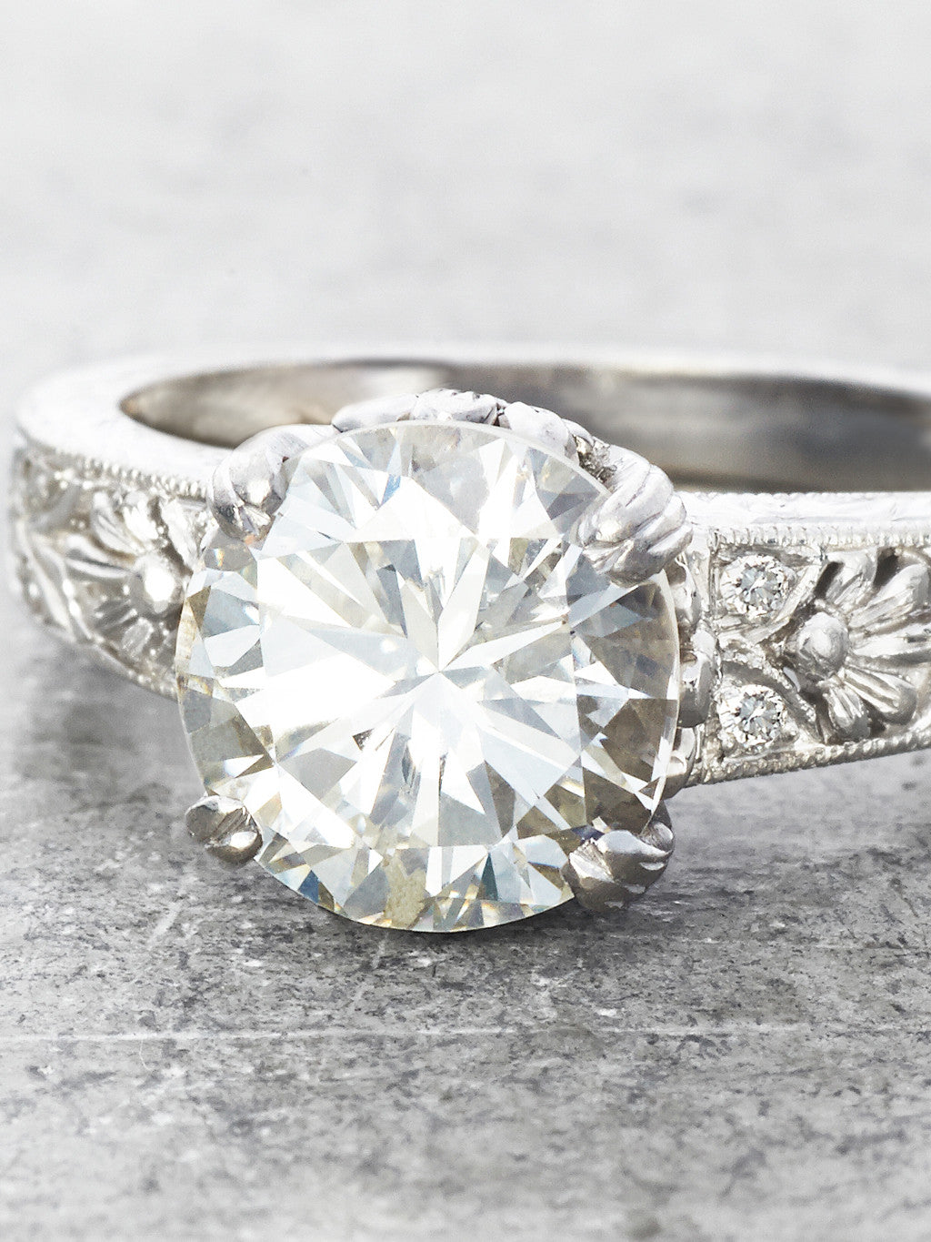 The Lauren Diamond Ring - close up