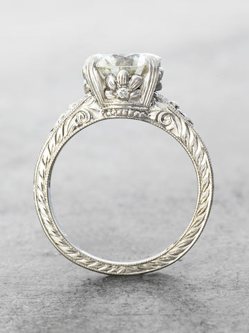 The Lauren Diamond Ring - side view