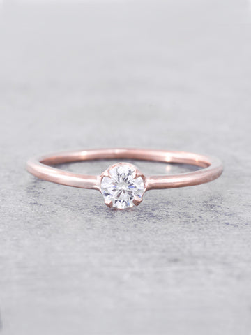 Leah Diamond Solitaire Ring