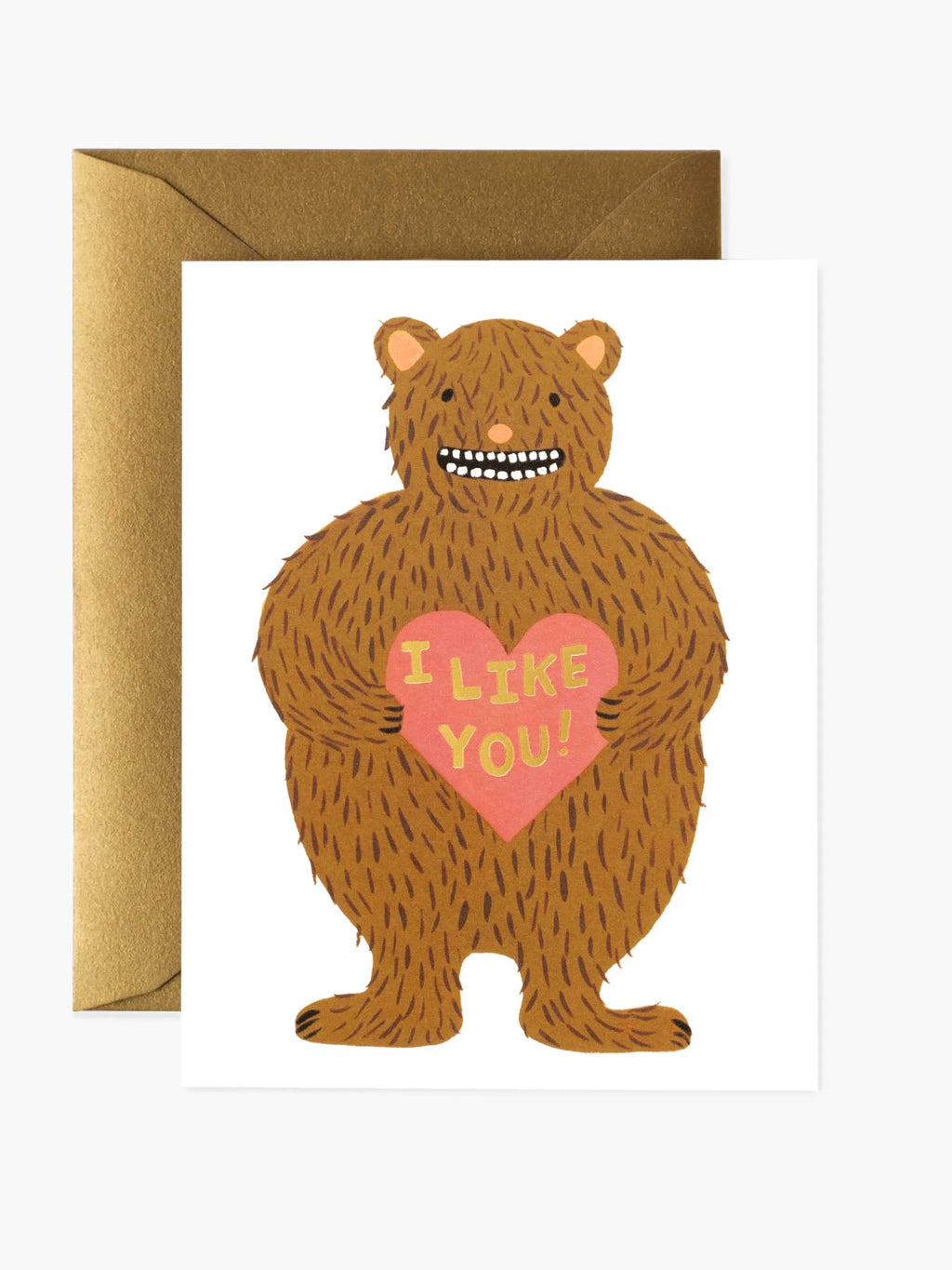 """""I Like You"""" Love Bear Greeting Card"