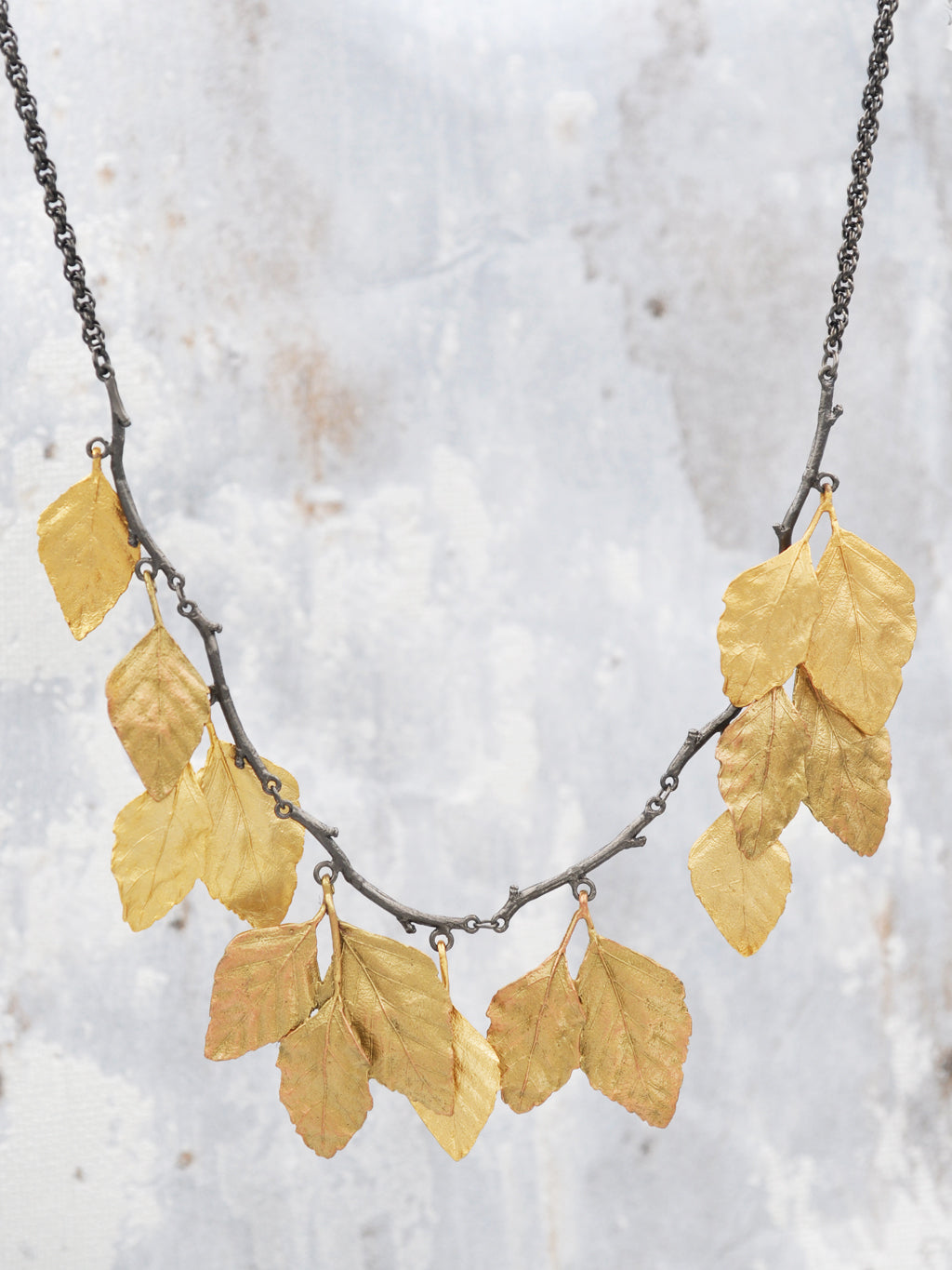 Cascading Autumn Birch Necklace