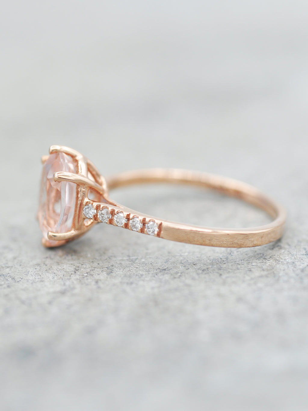 14K Morganite Marietta Ring