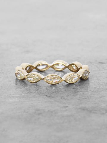 Moissanite Marquis Eternity Band