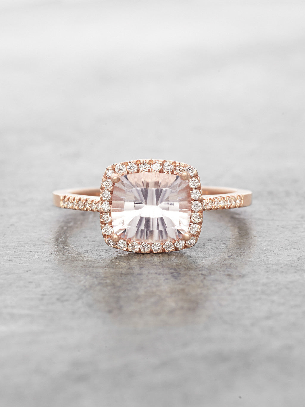 in setting ring resized white engagement cushion cut diamond morganite a halo products gold