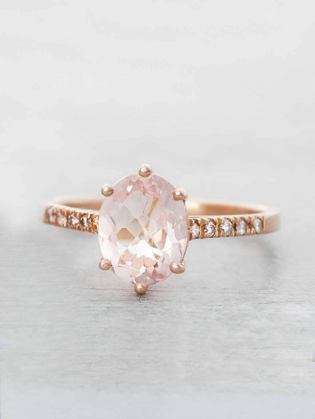 Pink Morganite Marietta Ring