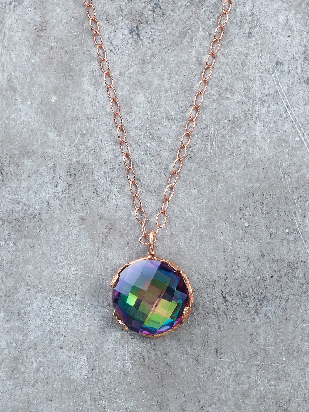 Mystic Topaz Disco Necklace