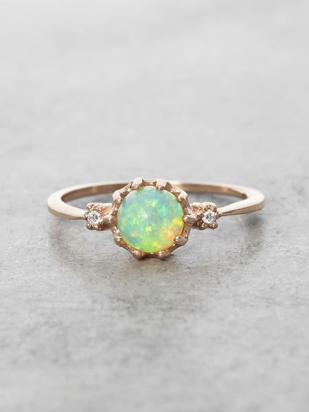 Mystical Opal Orb Ring