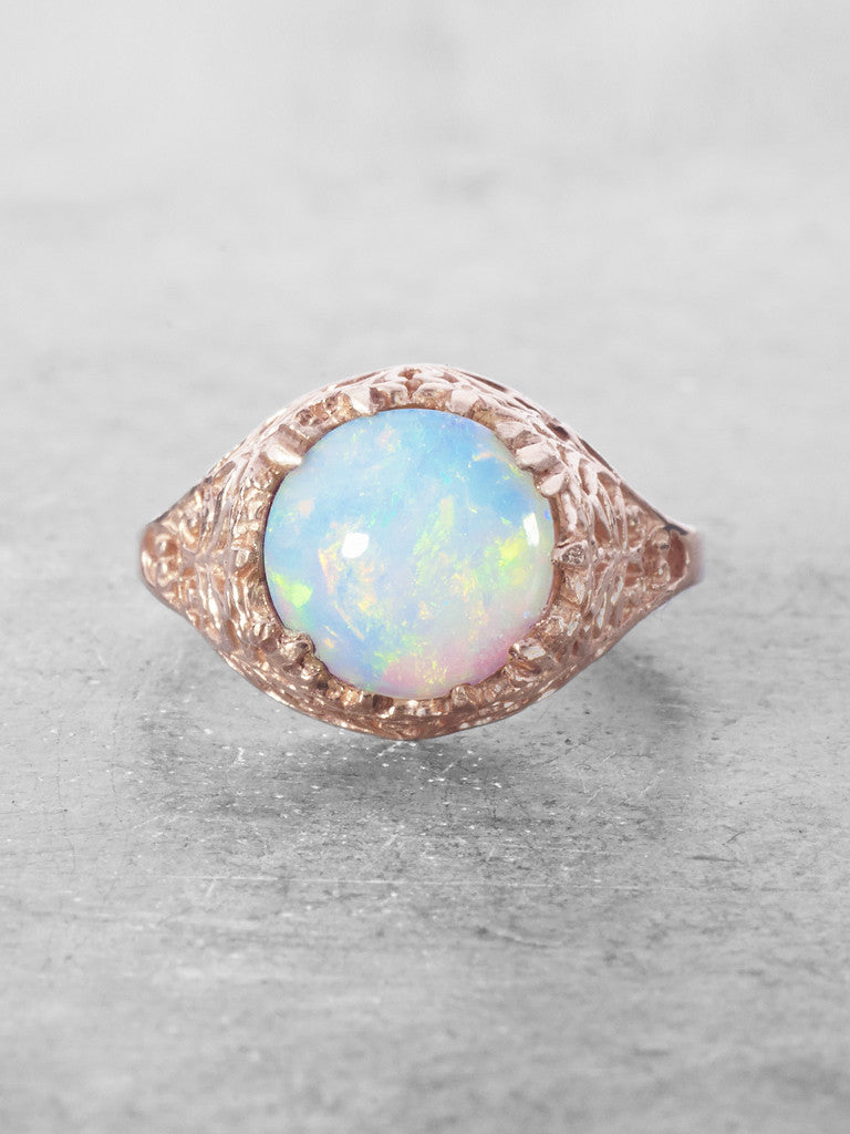 Opal Diamond Earrings