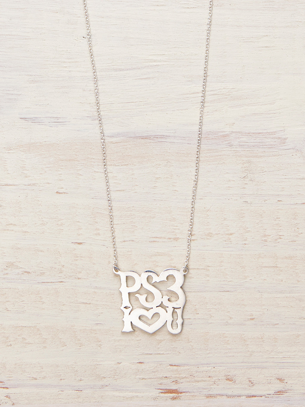 PS3 I Love You Necklace - LUNESSA