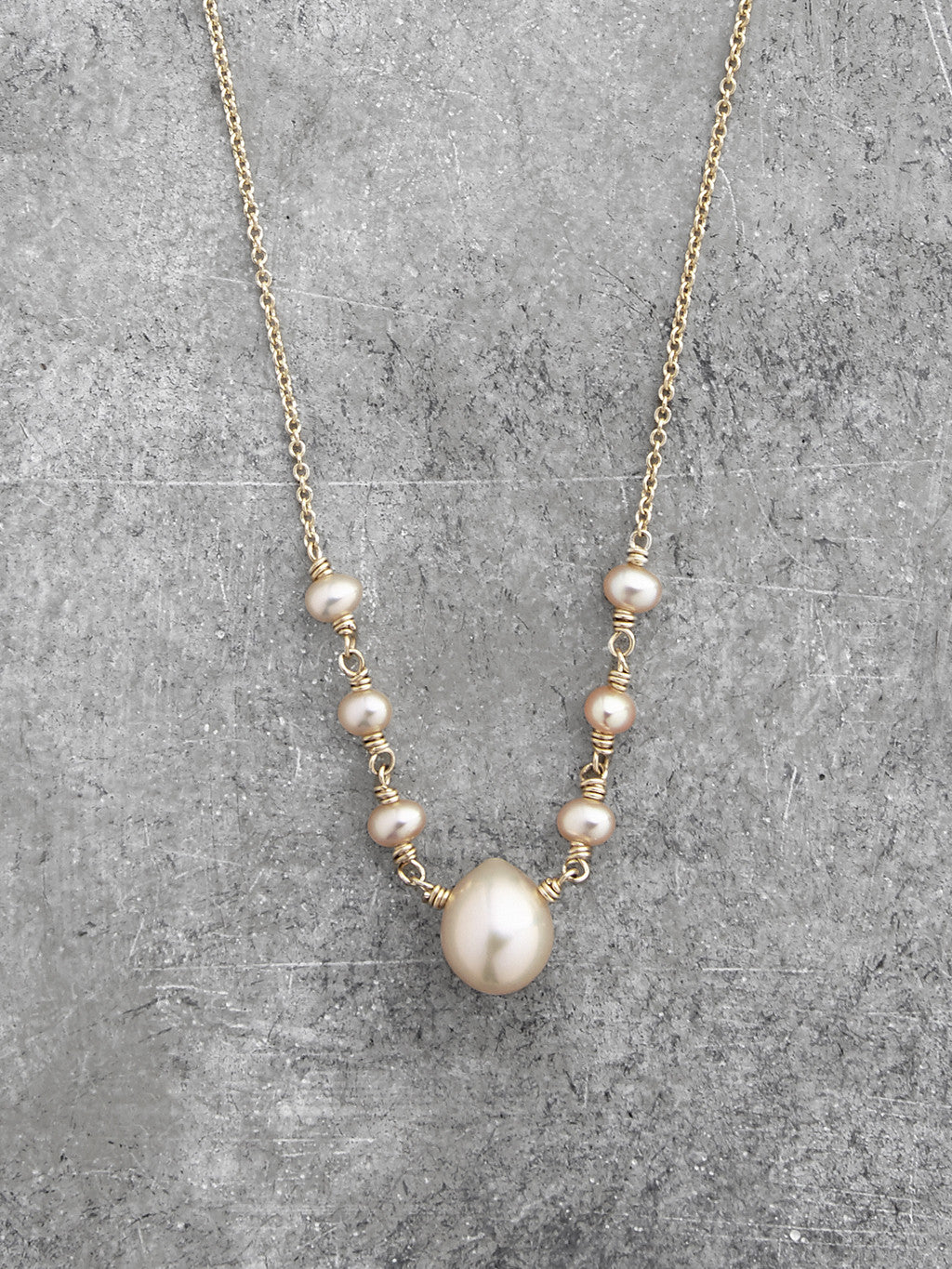 Georgia Freshwater Pearl Teardrop Necklace