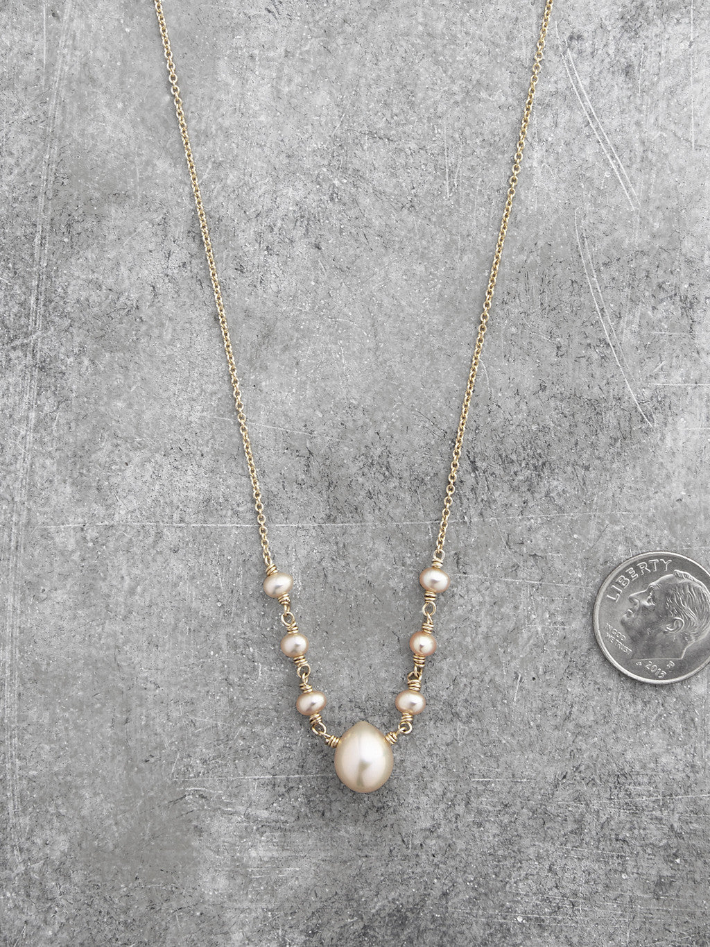 Georgia Freshwater Pearl Teardrop Necklace2
