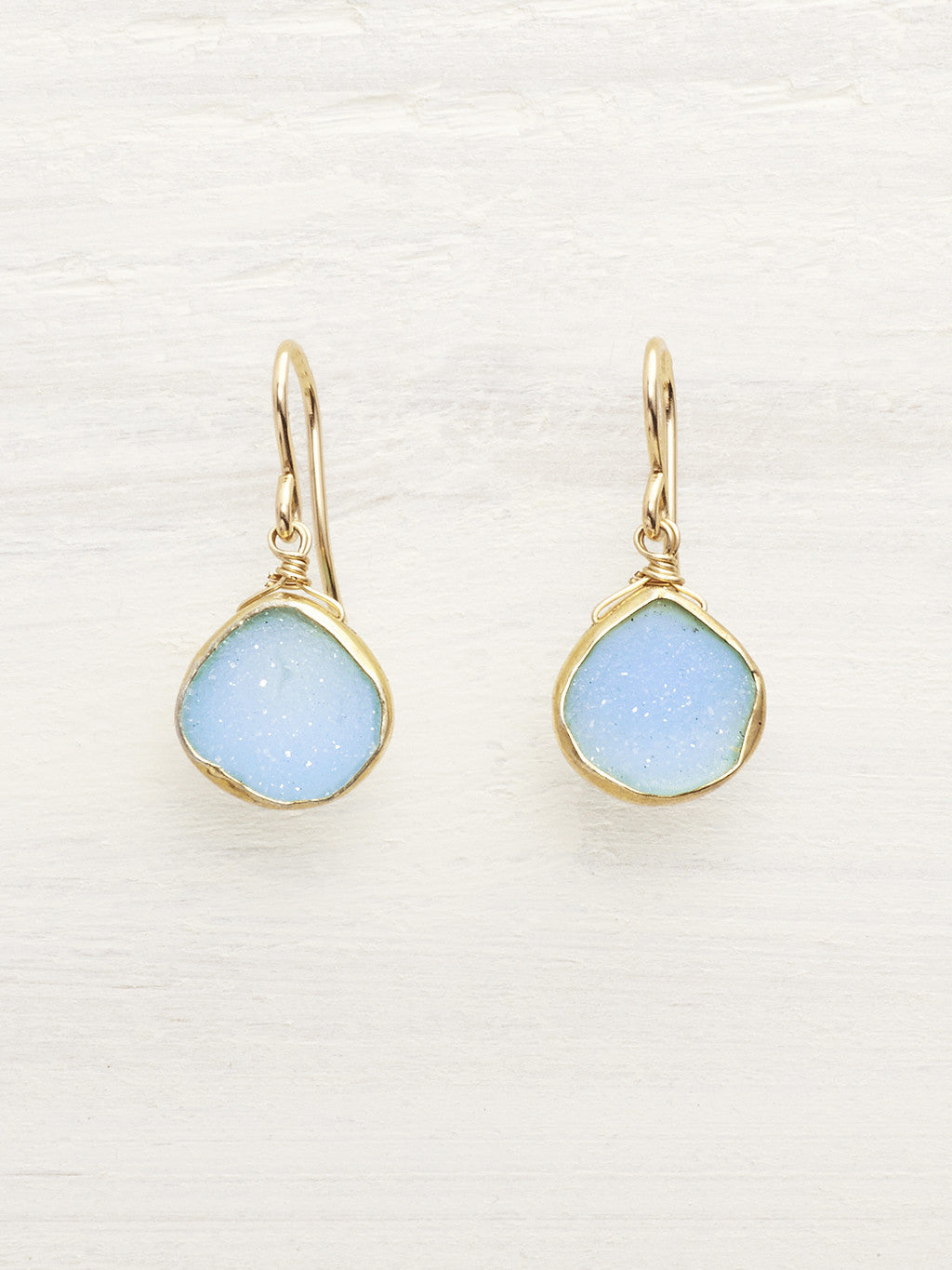 Baby Blue Druzy Teardrop Earrings