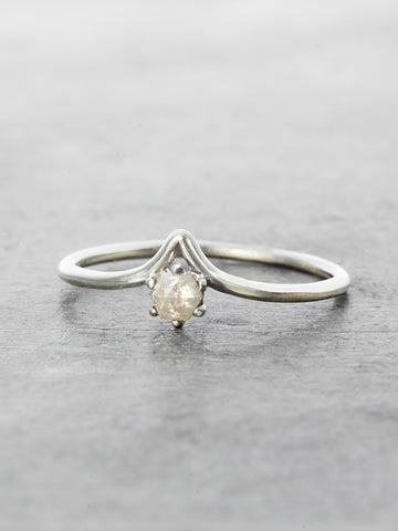 Little Peak Rustic Gray Diamond Ring