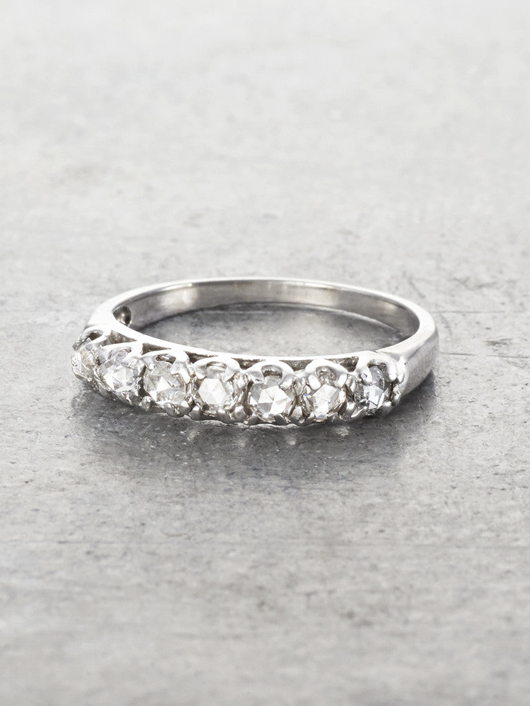 Seven Rosecut Diamond Wedding Ring Band