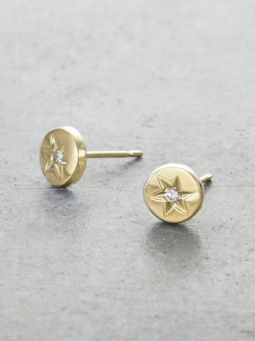Diamond Star Post Earrings