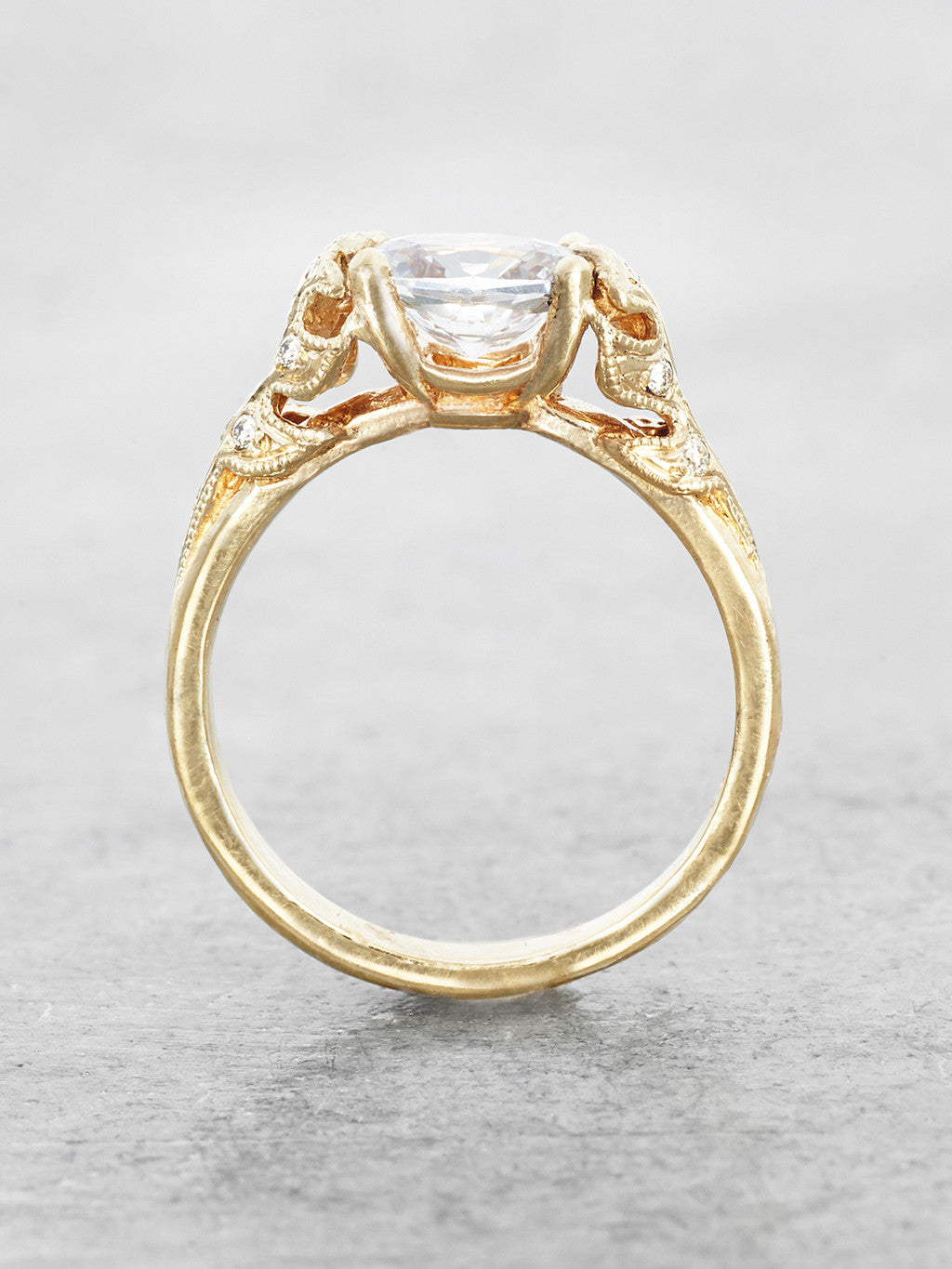 The Bethany Leaf Ring side view
