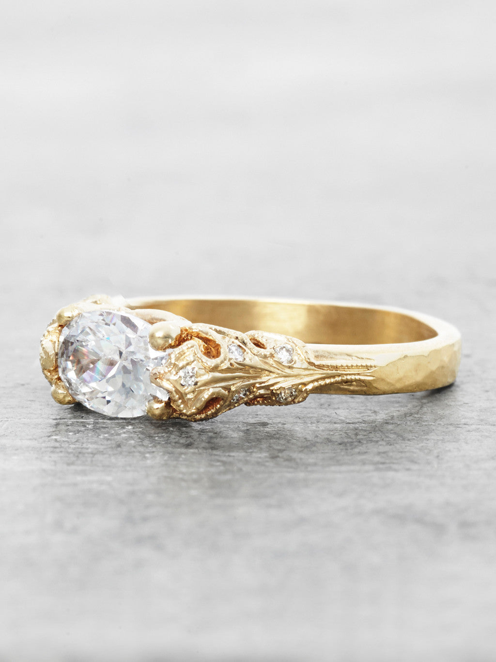 The Bethany Leaf Ring- flat view