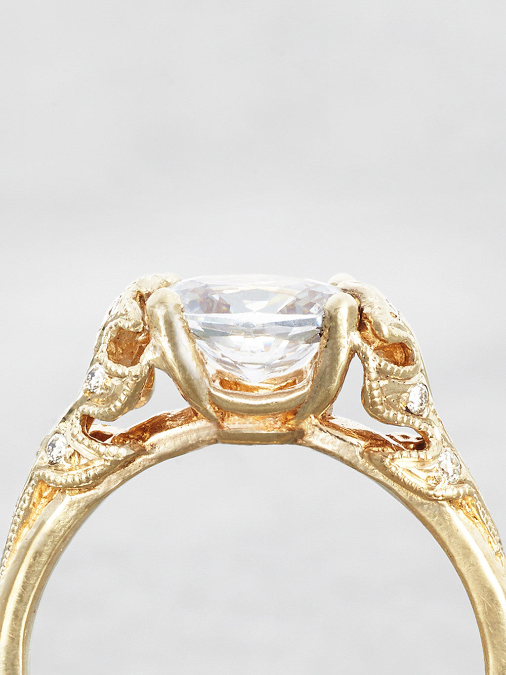 The Bethany Leaf Ring- close up