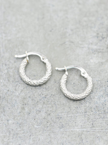 14K Tiny Stardust Hoops