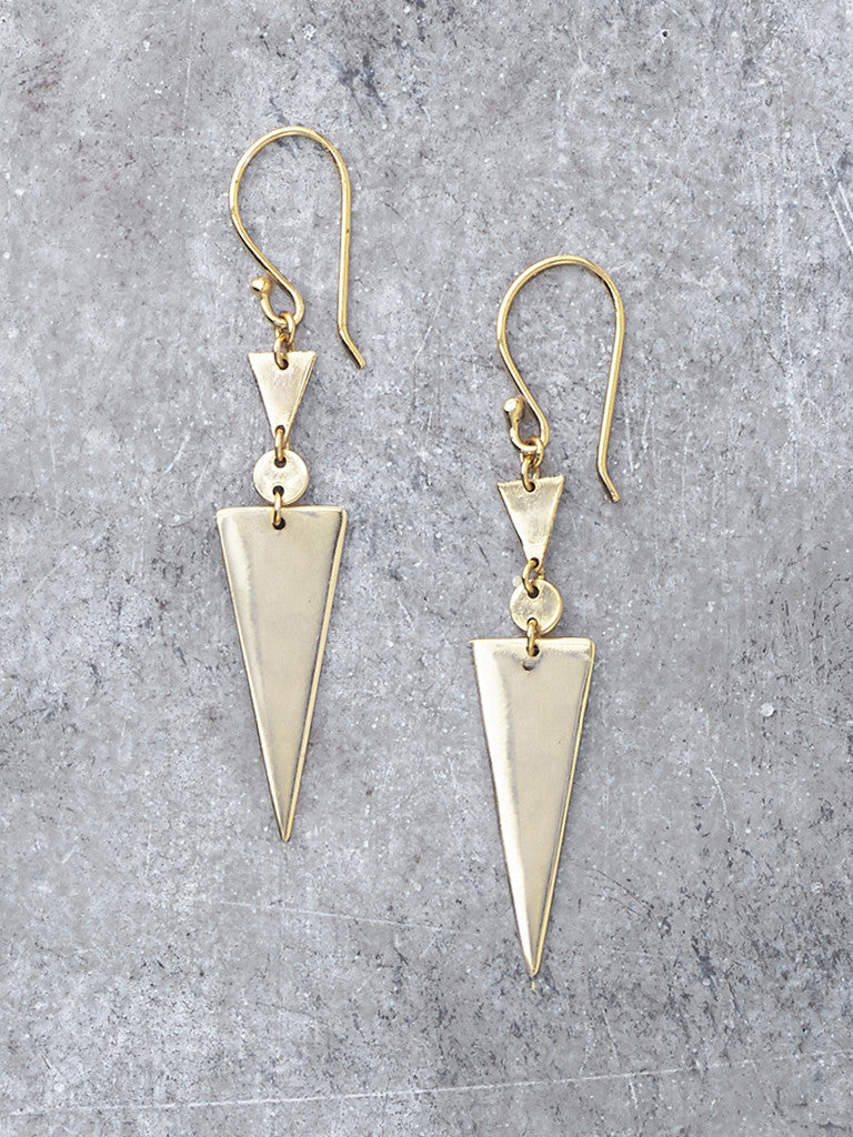 Triangle Drop Geometric Earrings