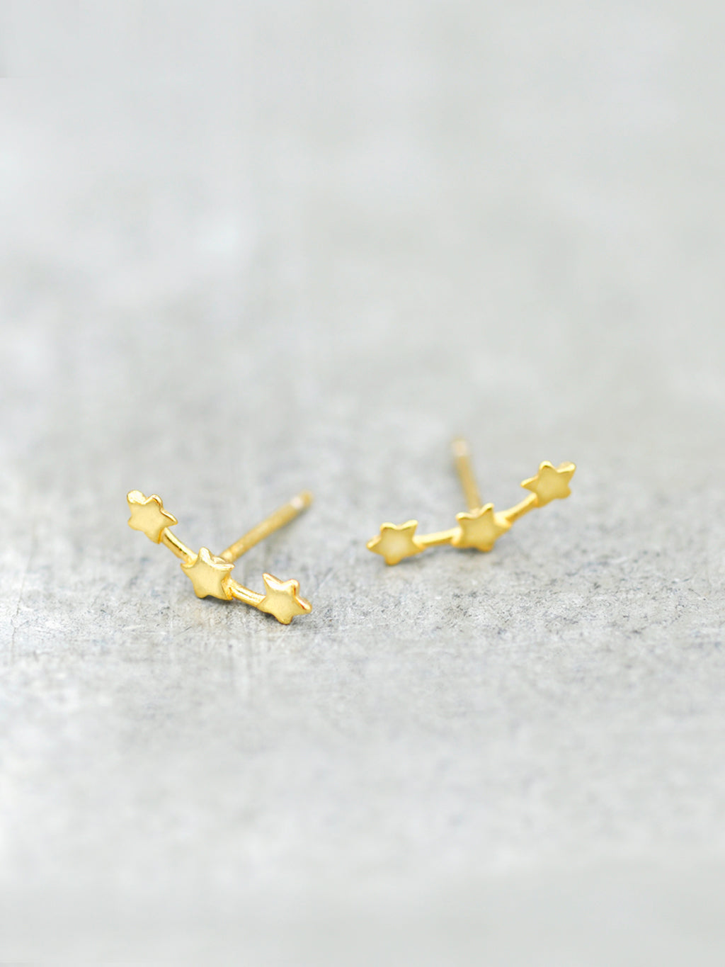Triple Stars Constellation Post Earrings