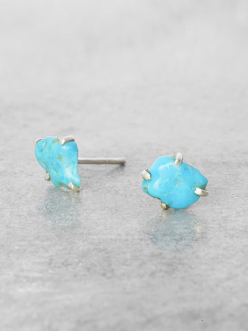 Raw Turquoise Nugget Posts