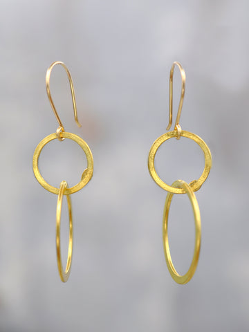 Vintage Brass Duo Hoops