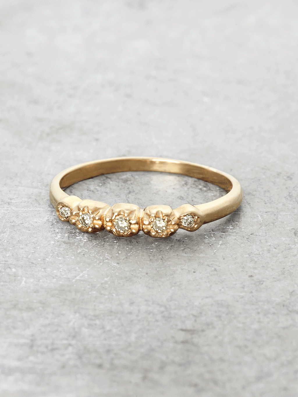 Diamond Petals Ring - 5 Diamonds