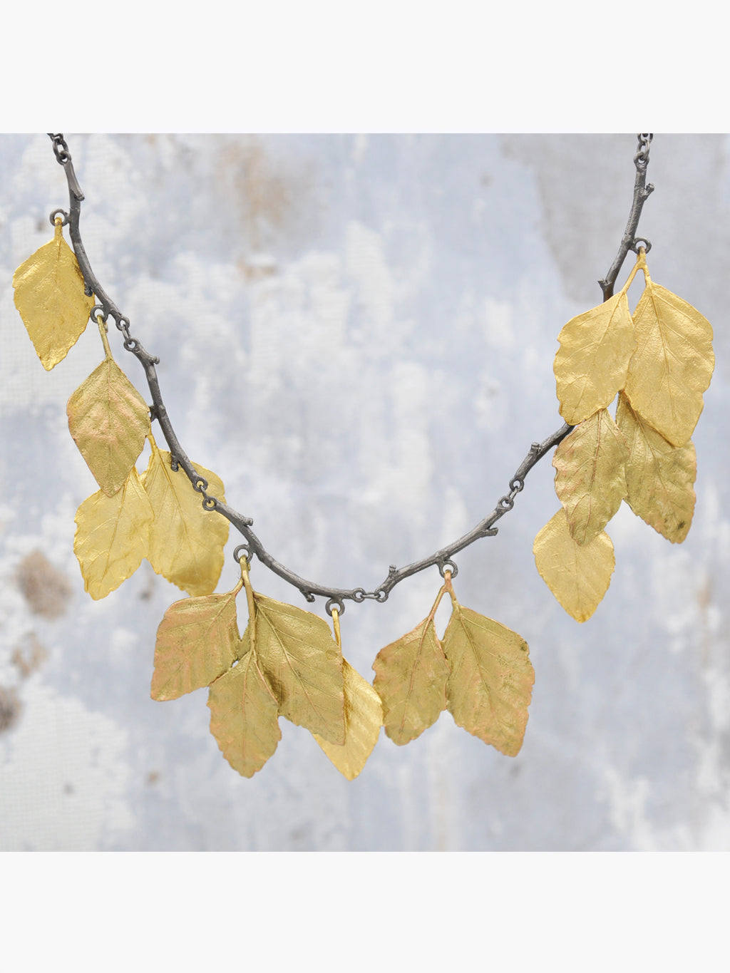 Cascading Autumn Leaves Necklace