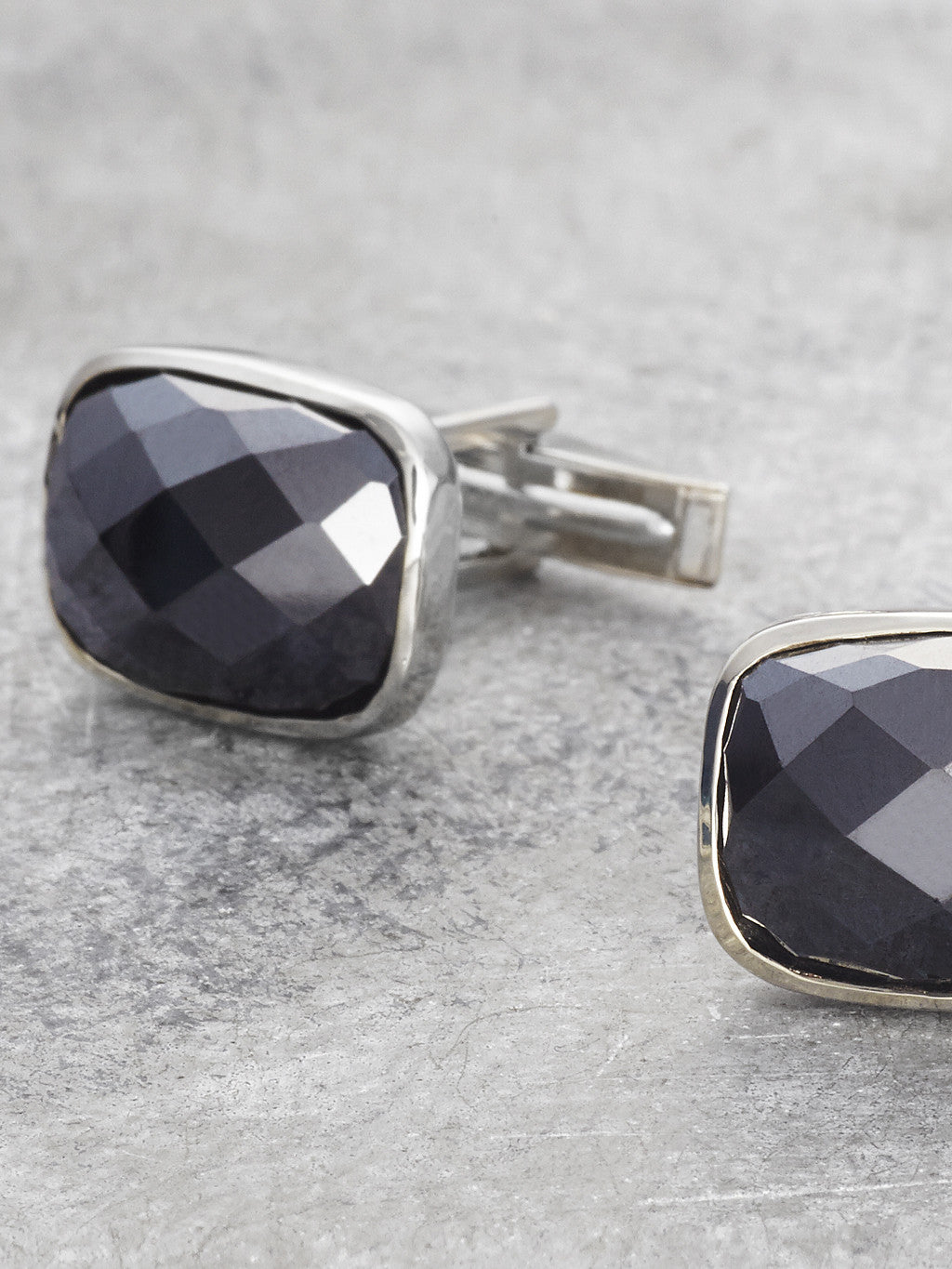 Black Onyx Cufflinks detail