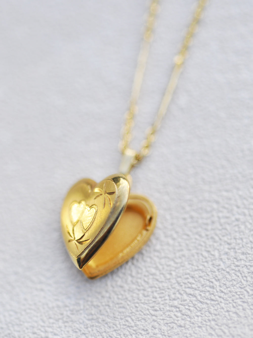 14K Goldfill Dainty Double Heart Locket