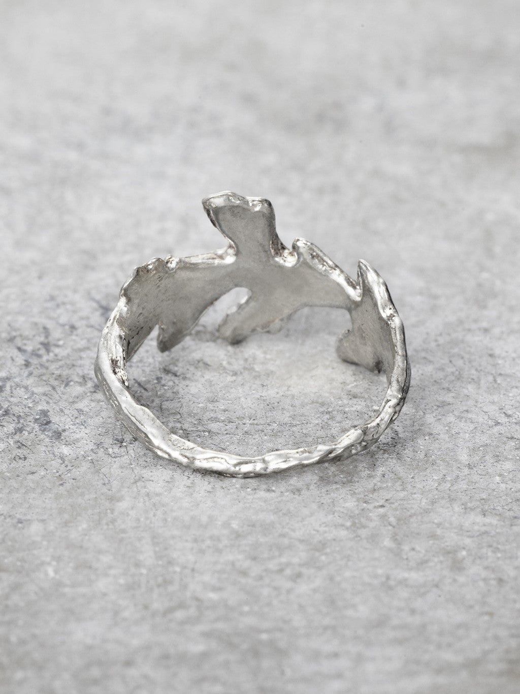 Mighty Oak Leaf Ring Back View