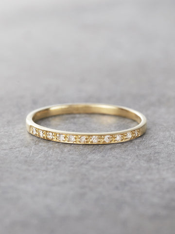 14K Gossamer Diamond Band - LUNESSA