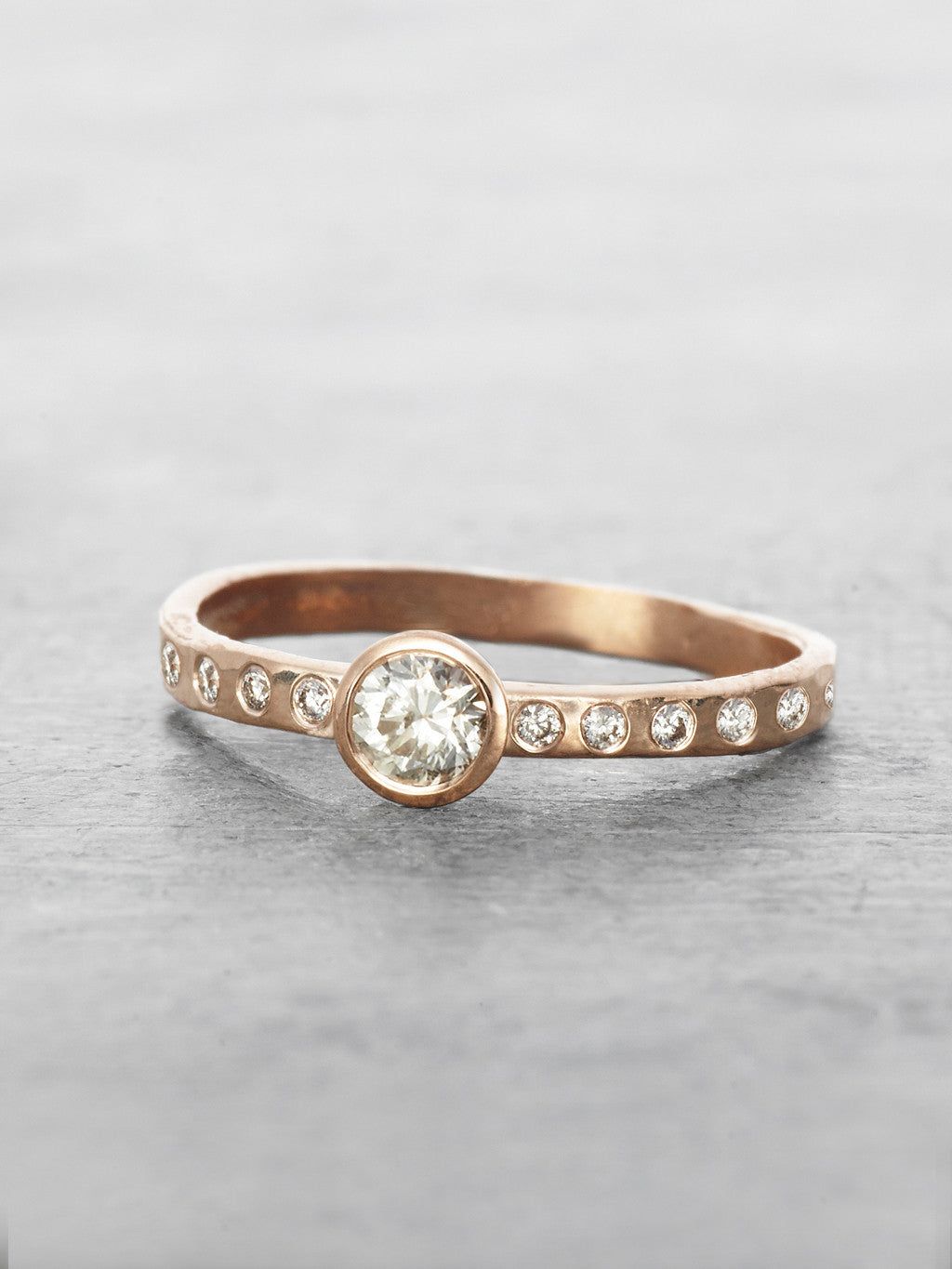 Half of Eternity solitaire Diamond Ring