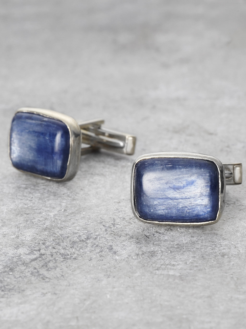 Sterling Kyanite Cufflinks - LUNESSA