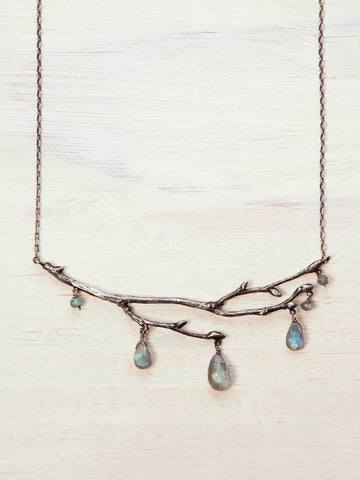Enchanted Labradorite Fairy Branch Necklace