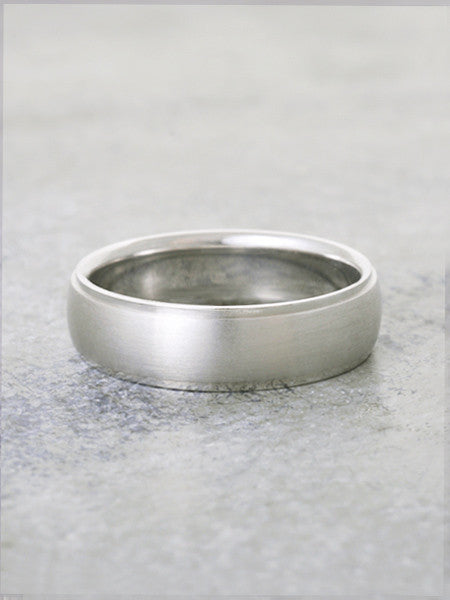 Bevelled Edge Matte Finish Wedding Band
