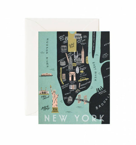 NYC Manhattan Map Greeting Card