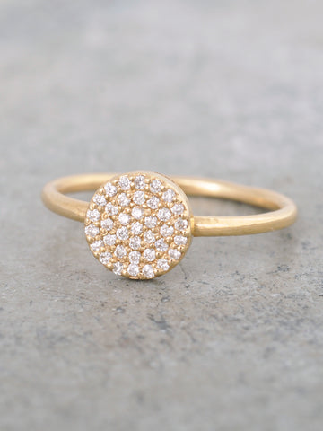 Pave Diamond Disk Ring