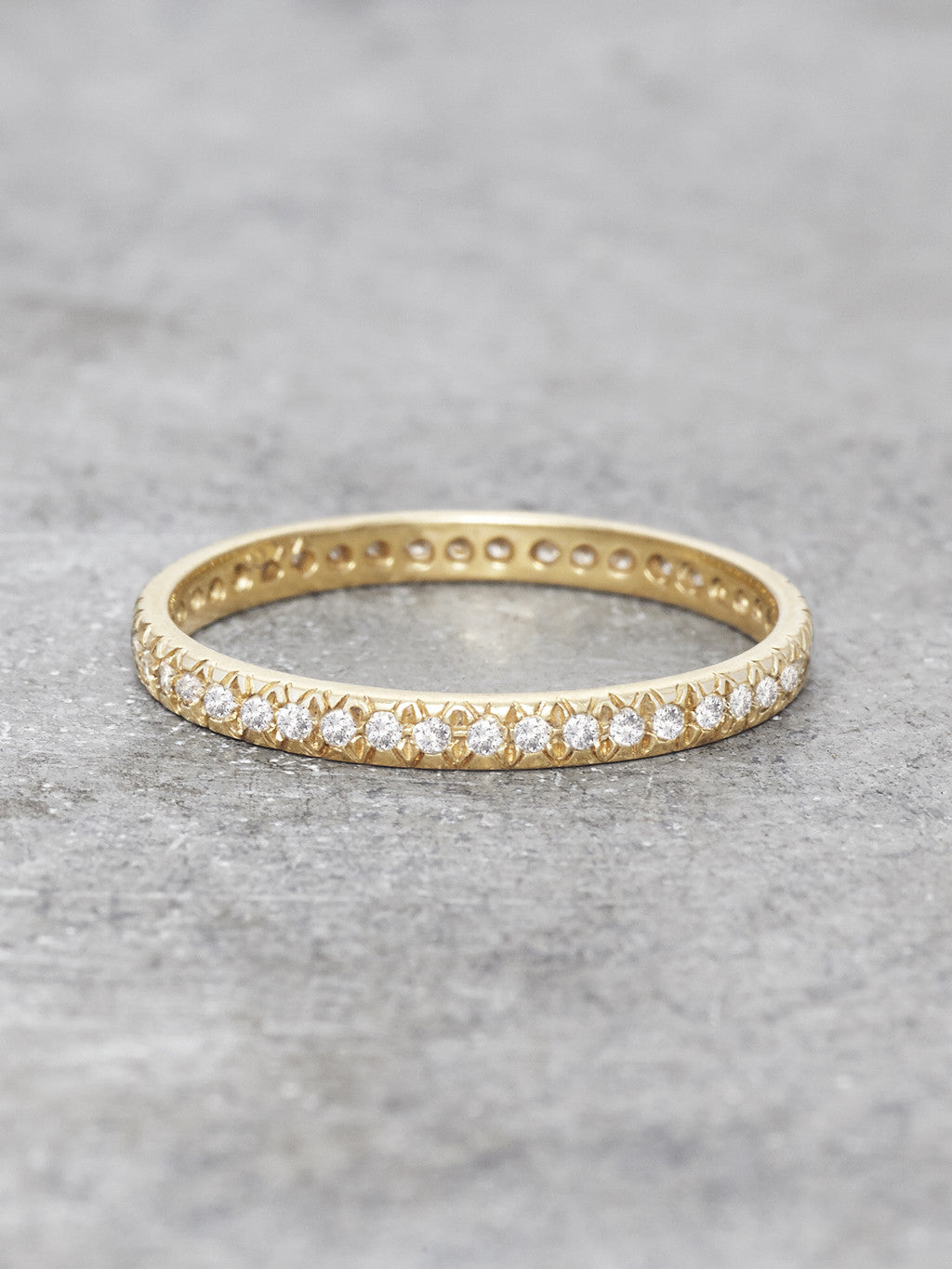 Antique Pave Diamond Fishtail Ring