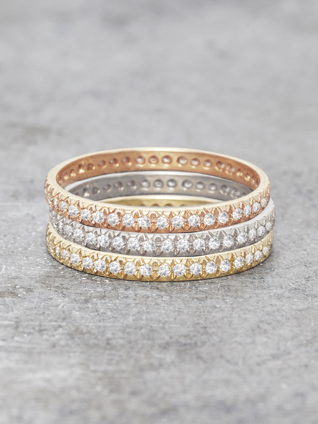 Antique Pave Diamond Rings