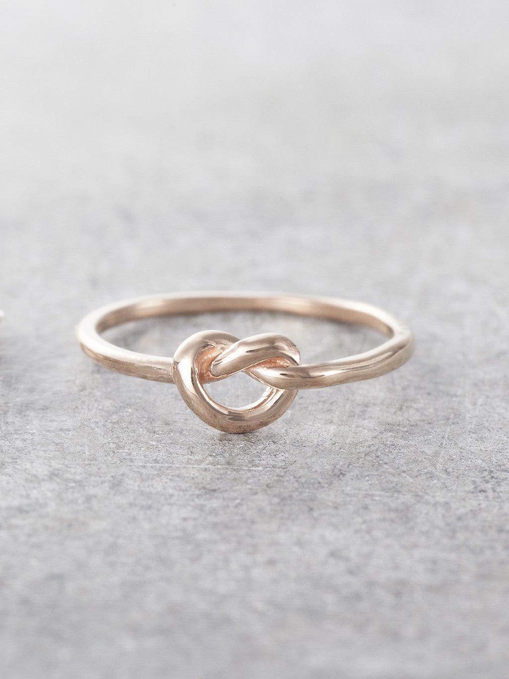 14K Rose Gold Promise Knot Ring