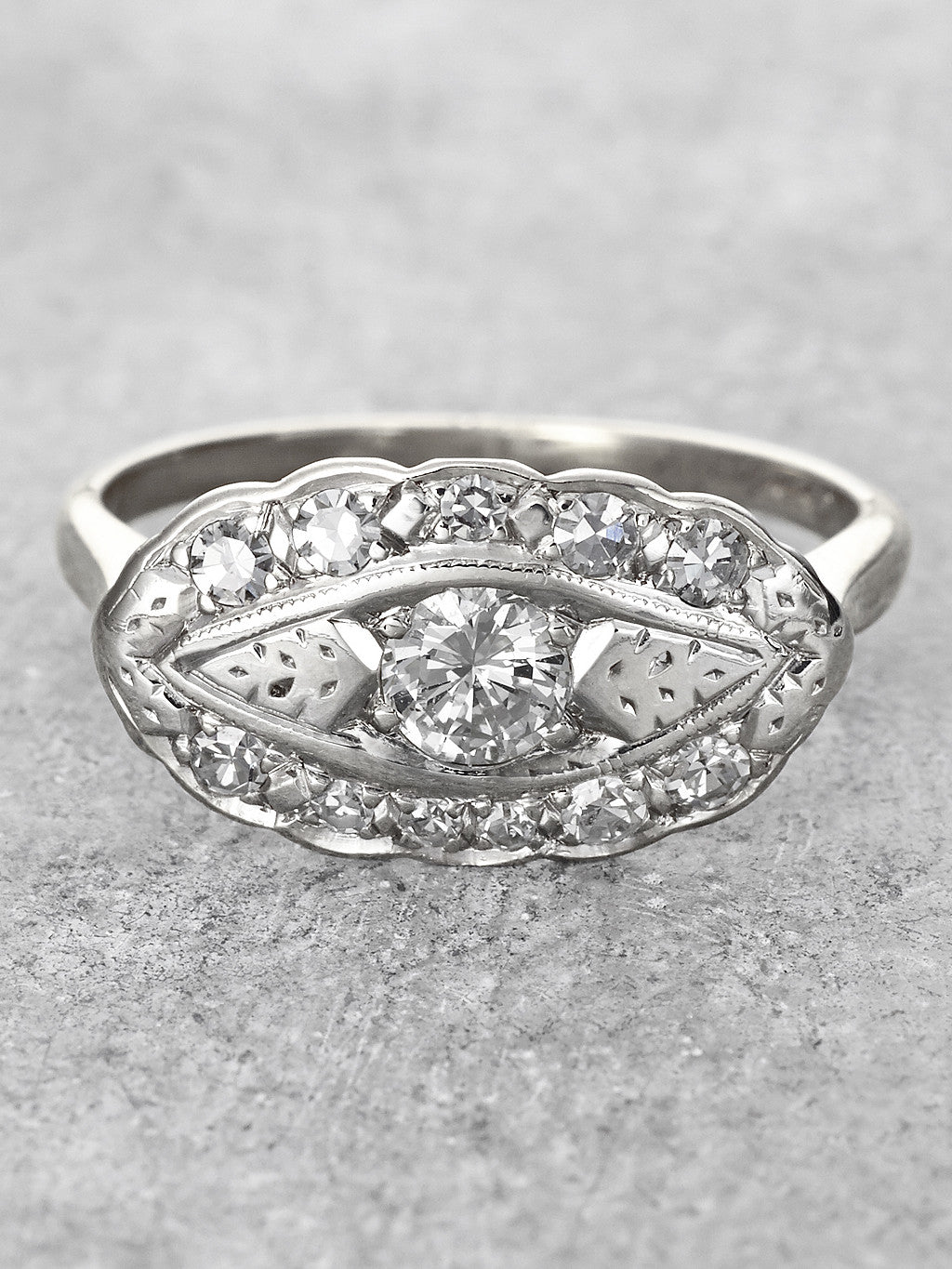 Scalloped Diamond Bouquet Ring 2