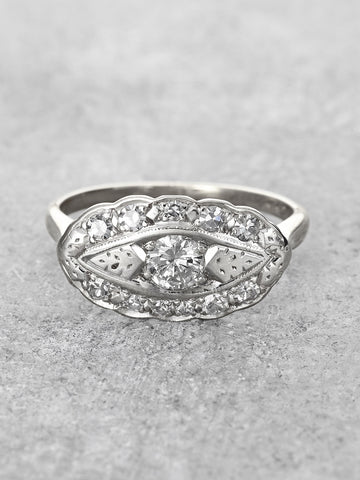 Scalloped Diamond Bouquet Ring