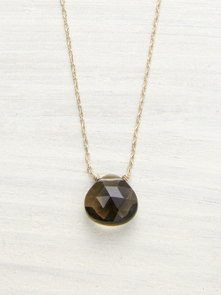 smokey quartz gem drop nk