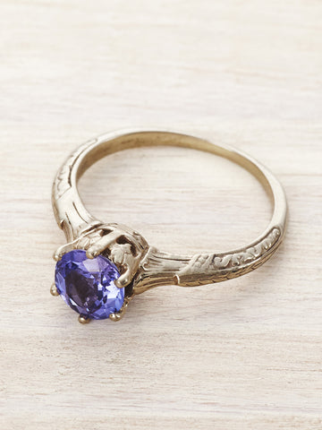 Tanzanite Art Deco Solitaire