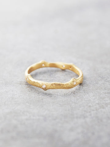 18K Gold Forest Nymph Thorny Branch Diamond Ring