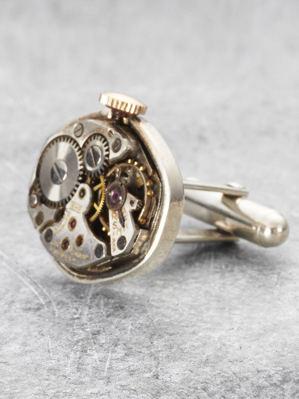 Steampunk Watchpart Cufflinks detail