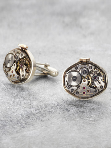 Steampunk Watch Part Cufflinks