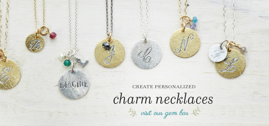 Create Personalized Charm Necklaces- Shop our Custom Gem Bar